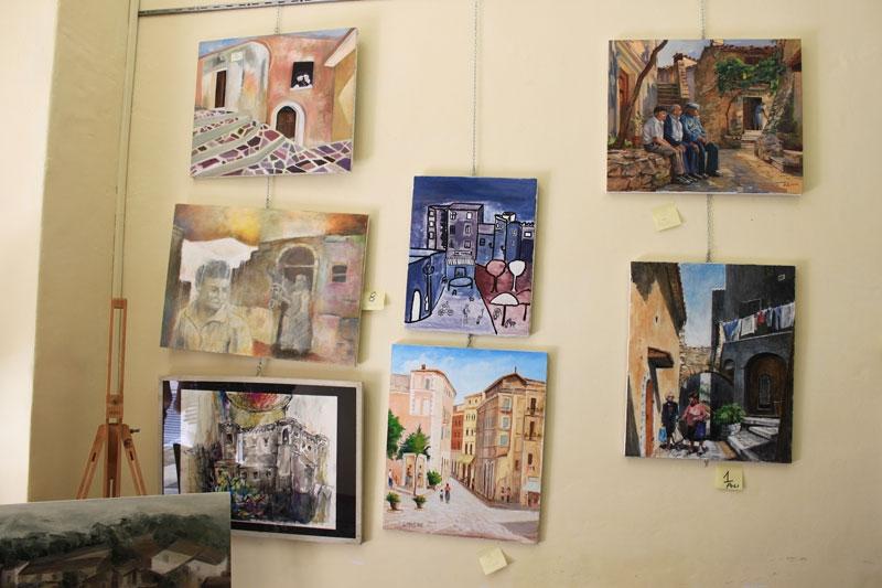 mostra di pittura nella sede 2
