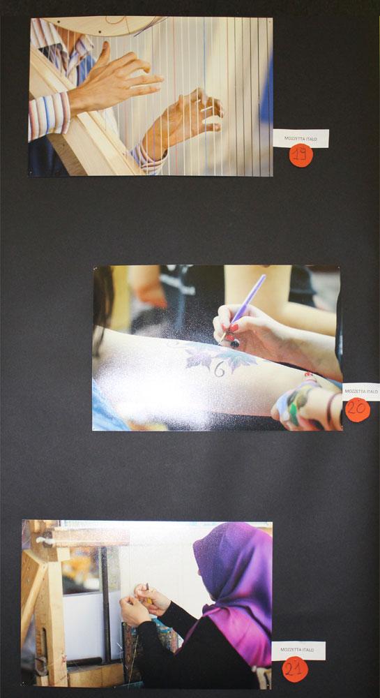 pannello con foto concorso fotografico mani all'opera